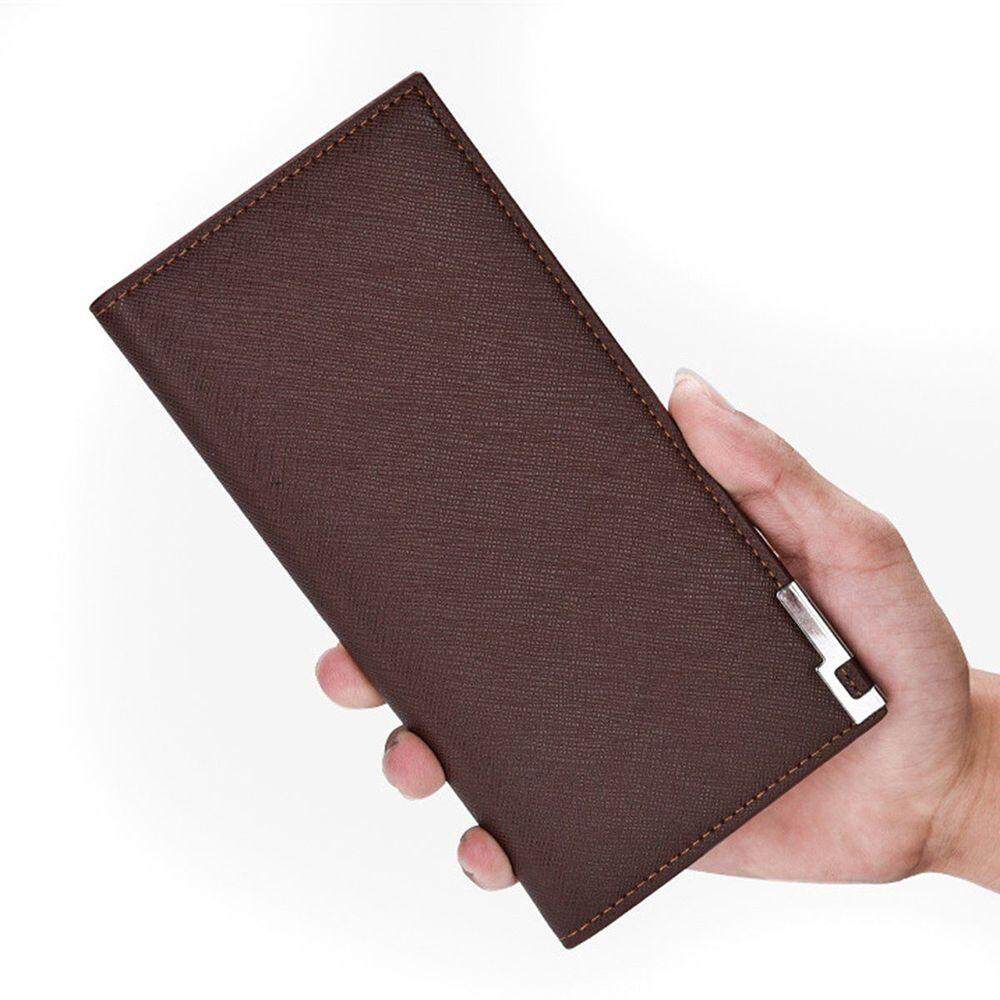Fashion Leather Luxury Mens Bifold Credit ID Card Wallet Holder Slim Coin Purse