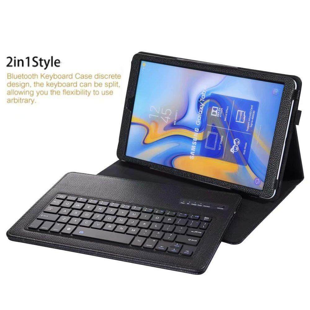 For Samsung Galaxy Tab A 10 1 2019 SM-T510 T515 Keyboard Case, Folio Shell  PU Leather Cover Removable Wireless Bluetooth Keyboard