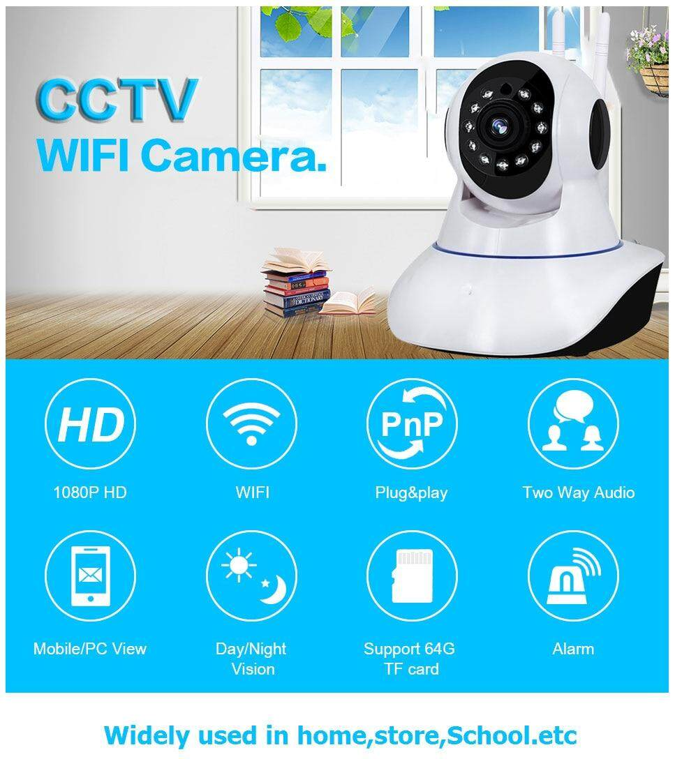 Yoosee APP 2MP HD 1080P HD PTZ Wifi IP Camera and IR-Cut Night Vision  Two-way CCTV Surveillance Audio Smart Camera SD Card View