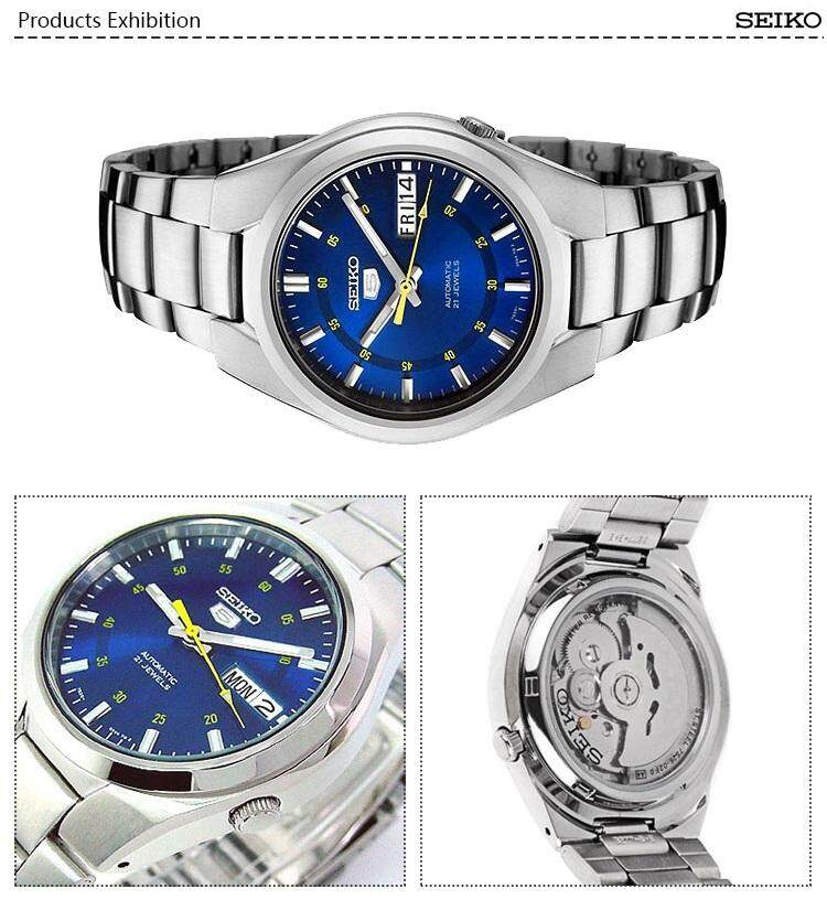 newest be35a d65fa Seiko 5 SNK615K1 Automatic See-thru Back Blue Dial Gents Stainless Steel  Watch