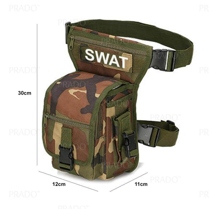 3e195e9befb1 PRADO Malaysia SWAT Multi-purpose Army Utility Gadget Pouch Waist Bag  Lumbocrural Bag Tactical Leg Bag Outdoor Sports Bag Riding Hiking Camping  Purse ...