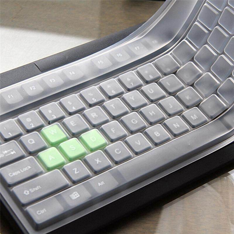 1x Universal Silicone Desktop Computer Keyboard`Cover Skin Protector Film Cover*