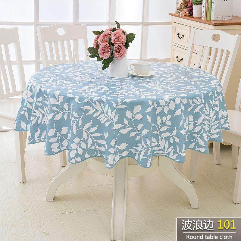 2m Round Pvc Table Cloth Waterproof, Round Table Cover