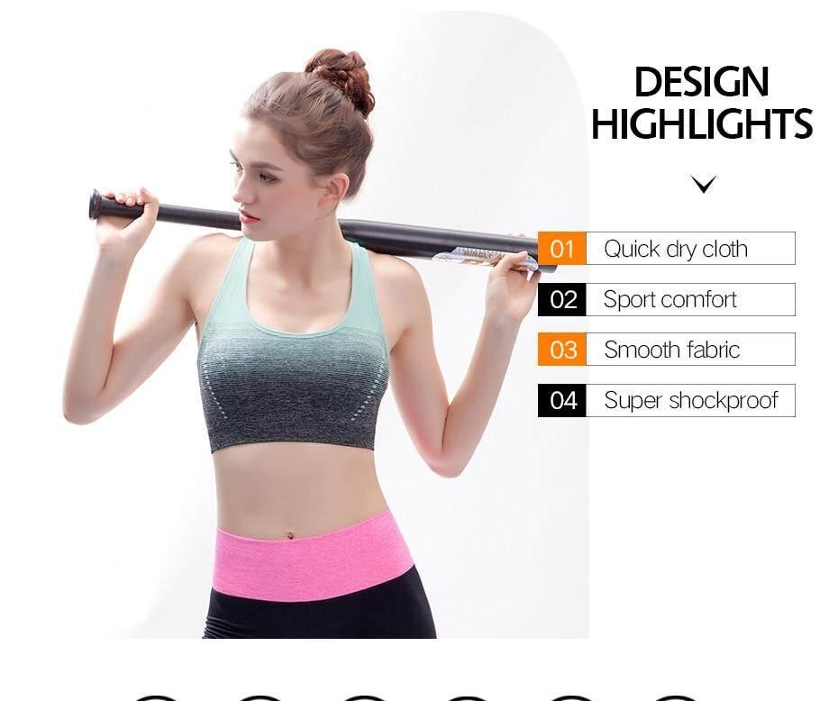 6f821b68972 High Stretch Breathable Sports Bra Top Fitness Women Padded Sport Bra for Running  Yoga Gym Seamless Crop Bra Gradient