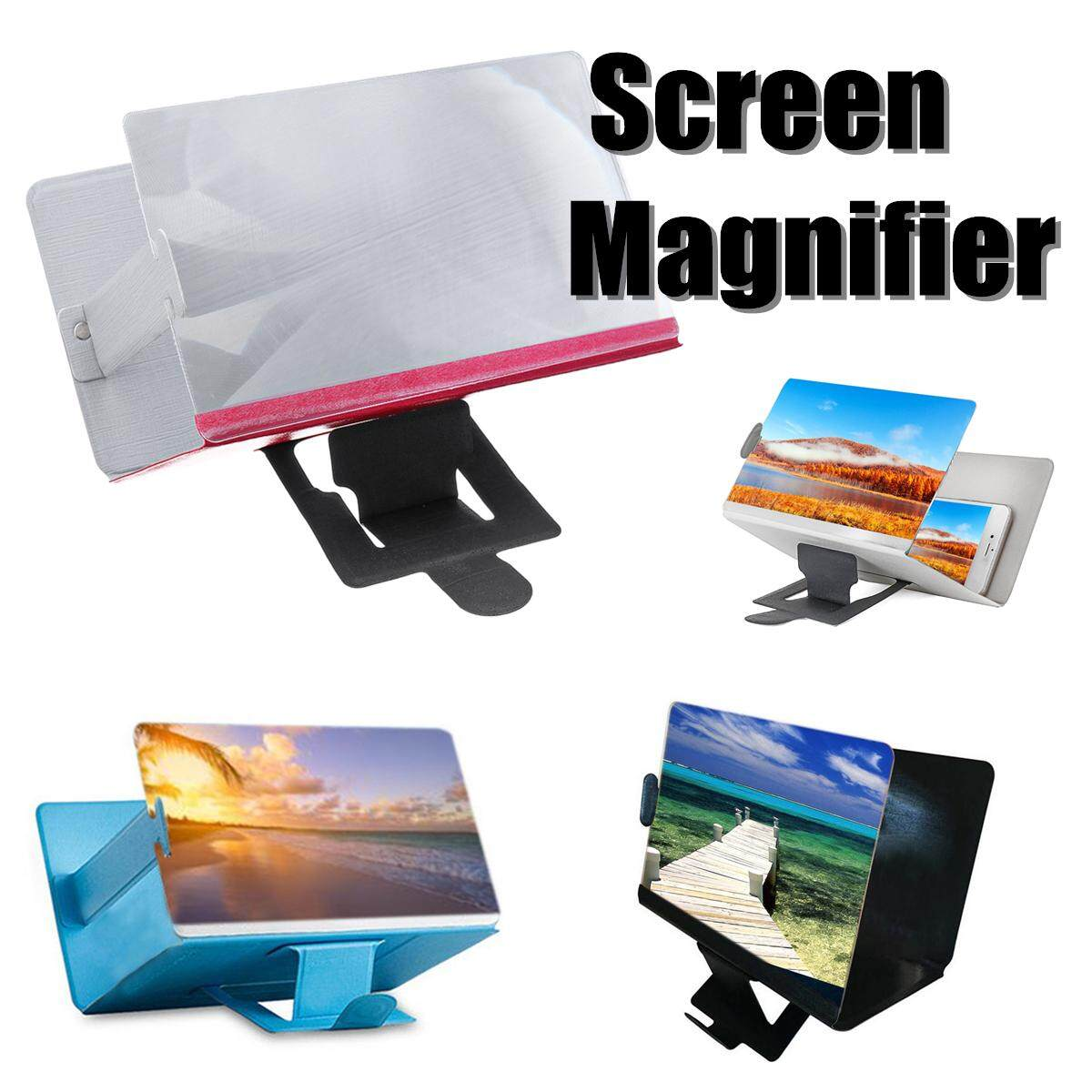 Support Screen Magnifier,Phone 3D HD Movie Video Amplifier,Pink