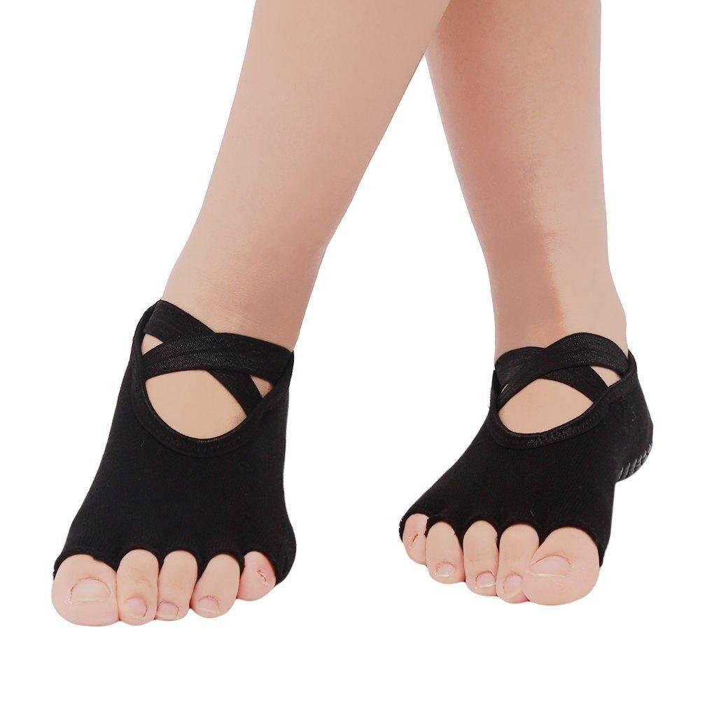 Yoga Socks Anti-slip Stockings Exercise Pilates Ankle Grip Five Fingers  Cotton Dance Silicone Bottom Gym Wear Sport