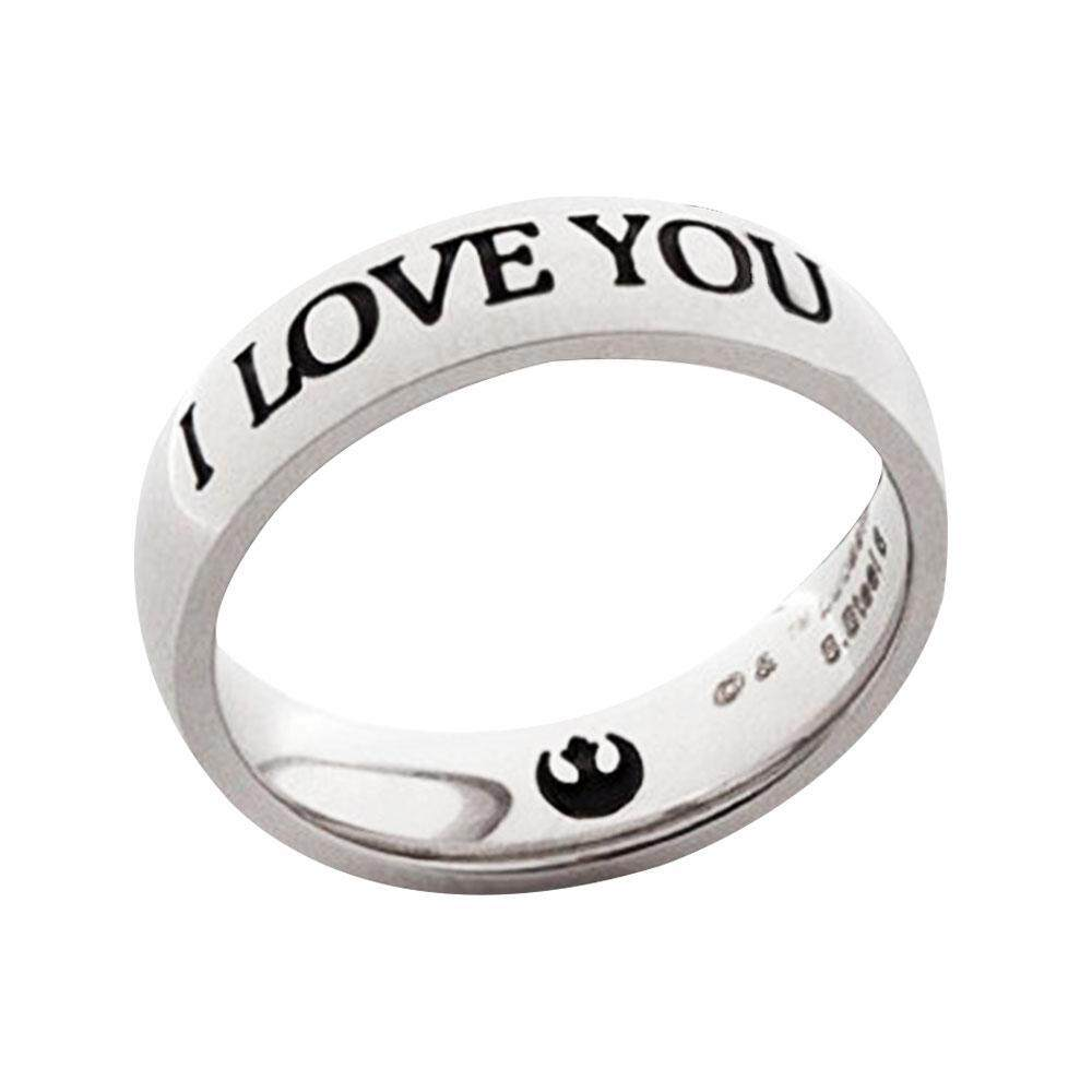 1994db3f96 Product details of Fashionable Couple Rings Letter Pattern I LOVE YOU I KNOW  Lover Men Women Gift