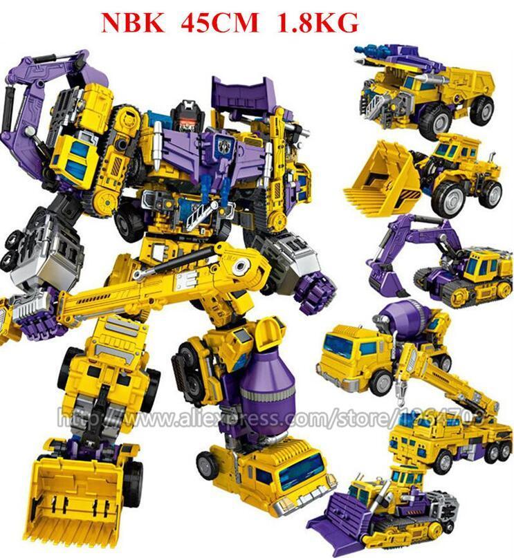 NBK OVERSIZED Devastator Robot Green//Yellow Ver Action Figure In Stock New