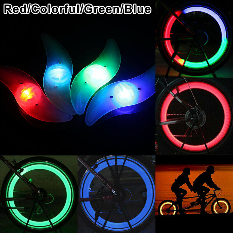 LED Bikes Bicycle Cycling Spoke Wire Tire Tyre Wheel Bright Light Lamp