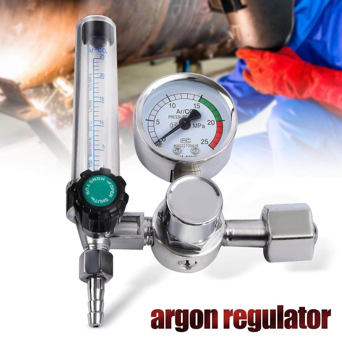 CO2 Mig Tig Argon Flow Meter Welding Weld Regulator Gauge Gas 0-25MPa