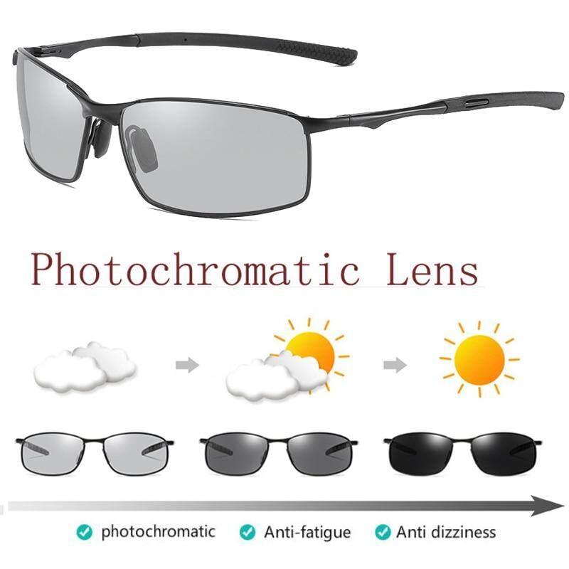 Polarized Men/'s Photo-chromatic Sunglasses Outdoor Driving Fishing Sport Eyewear