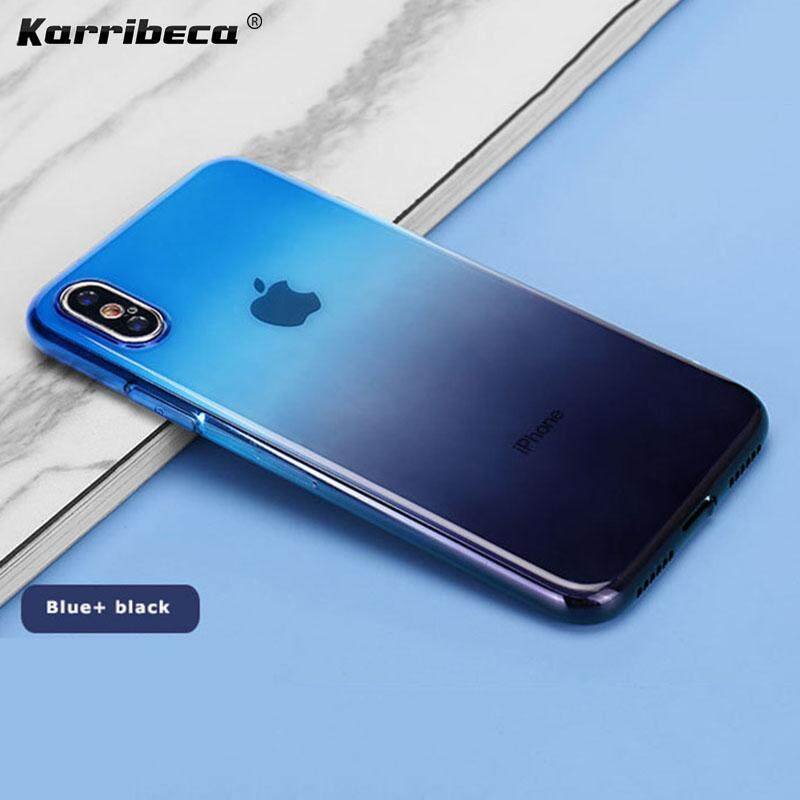 innovative design 74f6e c923e gradient silicone case for Iphone XS MAX iphone xs max cases casing  handphone dual color soft tpu phone cover soft back covers