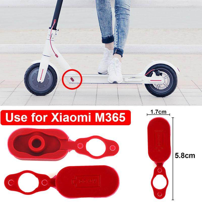 Kingsuda Charging Port Plug Scooter Panel Accessories for for Xiaomi Mijia  M365 Portable Practical Rubber Red Case Cover Parts