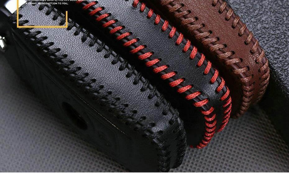 Leather Car Key Case For Hyundai I30 Ix35 Key Fob Cover Genuine Leather  Keychain