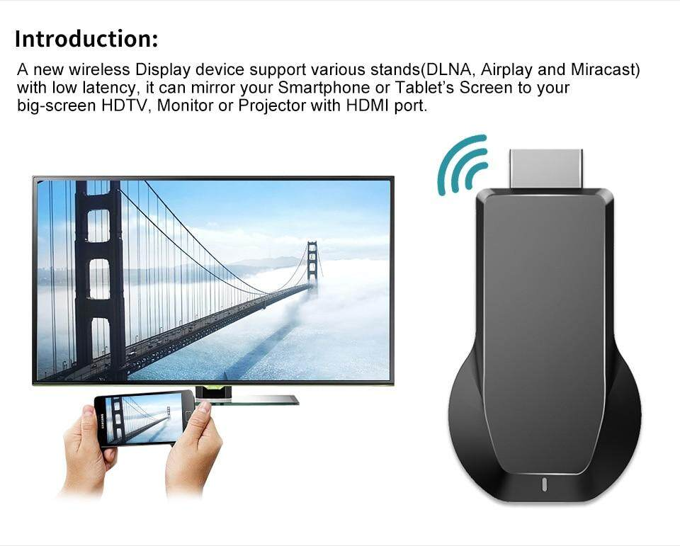 2019 Original Anycast M100 4K Wireless WiFi Chrome cast Miracast DLNA  Airplay TV Dongle HDMI Support Windows Andriod IOS Compatible with Google  Home &