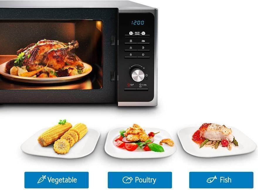 Microwave with different cooking modes