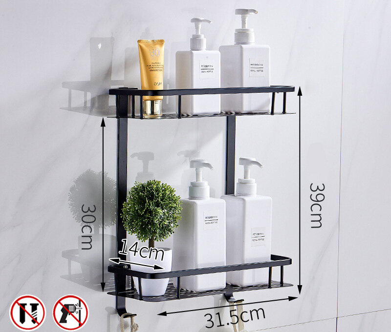 Sokano Th010 3 Tiers Stainless Steel Bathroom Shelves Toilet Shelf Bathroom Rack Storage Towel Rack Rak Tandas Rak Bilik Mandi Can Be Installed By Drill Or Do Not Need Drill Lazada