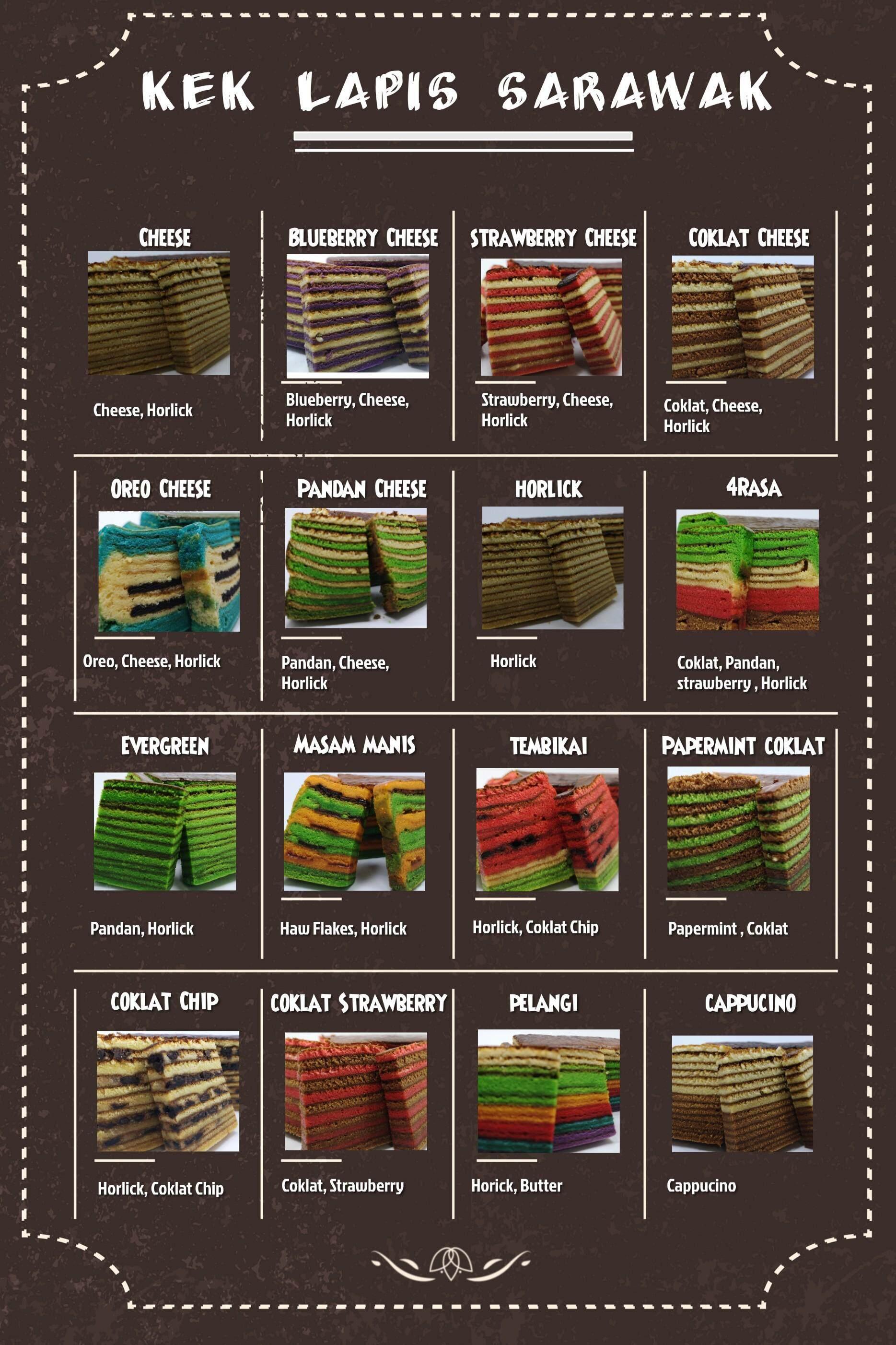 Preorder Kek Lapis Sarawak Cappucino Lazada