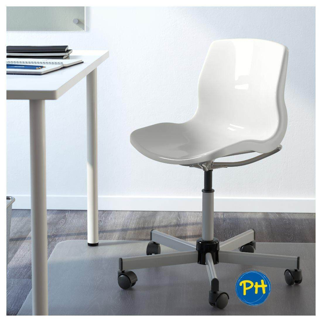 Ikea Snille 590 462 61 Swivel Chair White Plastic Office Computer Chair