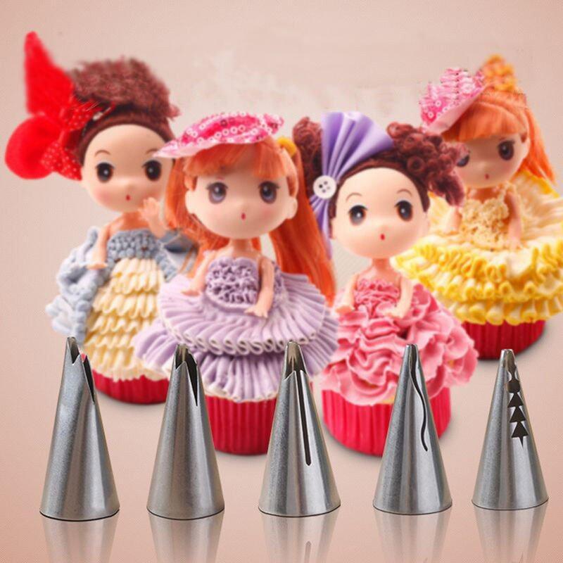 Bán 5Pcs Russian Tulip Icing Piping Nozzles Cake Decoration Tips Cooking Tools Intl Rẻ Hong Kong Sar China