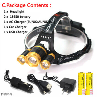 Harga 3 CREE XM L T6 Led Headlamp Headlight 10000 Lumens Led Head LampCamp Hike Emergency Light Fishing Outdoor Equipment