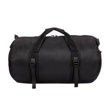 360DSC Large Size Urltra Light Folding Unisex Round Duffel Shoulder Bag Handbag Gym Sports Bag - Black