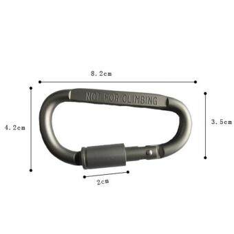 5Pcs Aluminum Snap Hook Carabiner EDC Tool D-Ring Key Chain Clip Keychain For Hiking Camping - 4