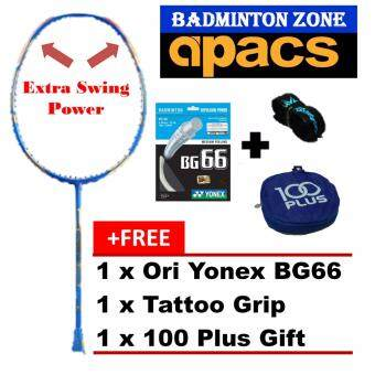 Apacs Stardom 100 (Blue)+BG66+Grip+Gift Unstrung Badminton Racket