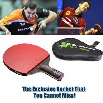 Carbon Fiber Table Tennis Racket Blade with Double Face RacketRubber Bat Boll NANO-V with Bag Table Tennis Bat