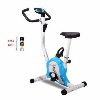 Combo Set EcoSport Lightweight Exercise Fitness Zero Bike Bicycle (Blue) and USB Light