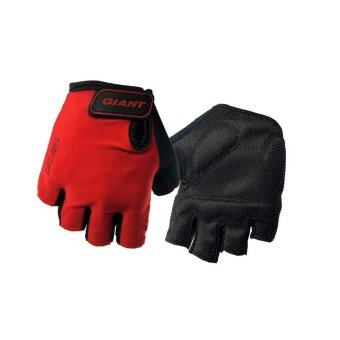 EcoSport Anti Slip Cycling Gloves (Red/Black)