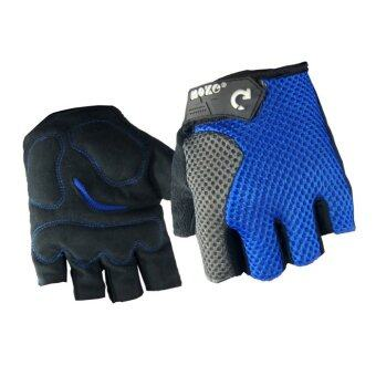 EcoSport Anti-Slip Wrist Support Sport Gloves (Blue)