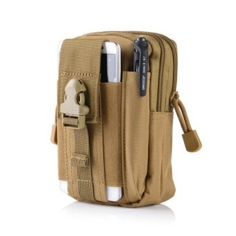 EcoSport New Universal Outdoor Tactical Military Waist Belt BagWallet Pouch Purse Phone Case For Samsung and Iphone 7 (Khaki)