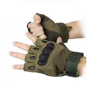 EcoSport Tactical Gloves, Half Finger Military Gloves for FitnessGym Workout,Motor Driving, Outdoor, Camping, Hunting - XL size(Green)