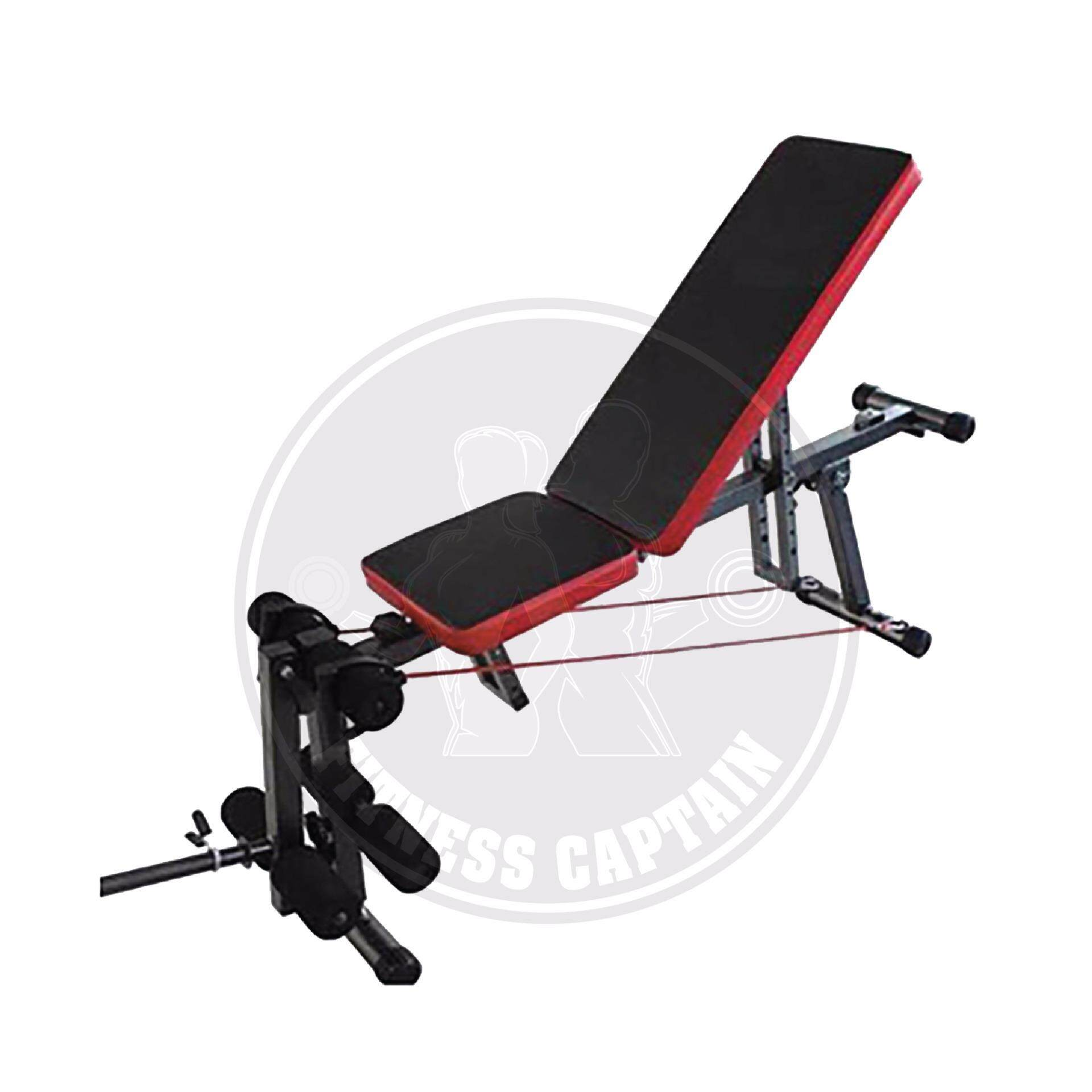 Fitness Captain Gym Adjustable Abs And Dumbbell Workout Bench With Leg  Extension | Lazada Malaysia