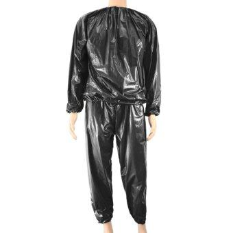 Harga Fitness Waterproof PVC Heavy Duty Sauna Suit Sweat Clothes GymTraining Slimming Workout Weight Loss Sauna Clothes XXL Size