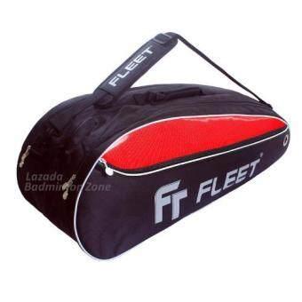 Fleet 2 Zips+Side+Shoe Compartment FT 305 Red Black Badminton Bag
