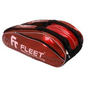 Fleet 2-Zips+Thermo+Shoe+Side Compartment FT507 Red Solid Badminton Bag