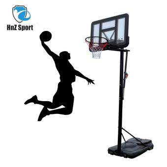 HNZ Sport Handpull basketball hoop conveniently height adjust rimbackboard