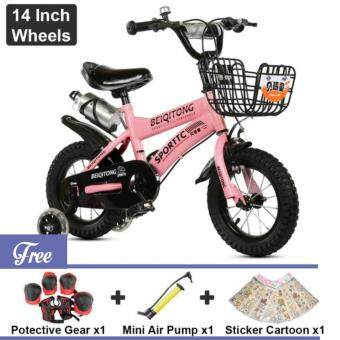 Harga BEIQITONG [NP138] BMX Freestyle Kids Bikes 14 Inch Wheels Boy's And Girl's Bikes With Training Wheels, Gifts For Children