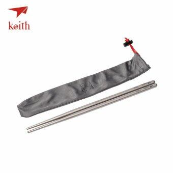 Harga Keith Titanium Chopsticks Food Sticks Square Chinese Chopsticks