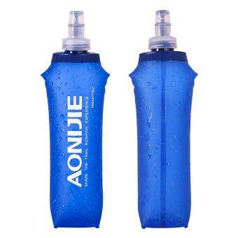 Harga AONIJIE Sports Foldable BPA PVC Free Soft Running Water Kettle Soft Hiking Flask Hydration Bottle 500ml
