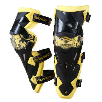 Harga Scoyco K12 Motorcycle Protective kneepad Motocross Racing Guard Knee Pads Protective Gear (Yellow)