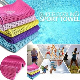 Harga AONIJIE Ice Cold Cooling Towel Reuseable Running Cycling Hiking Outdoor Sports Pink