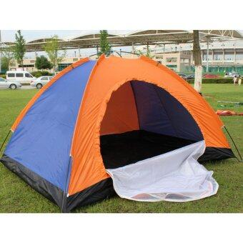 Harga 2 Person Camping Tent Lightweight Windproof, Waterproof ,UV-proof Tent for Hiking,Camping Hiking,Orange