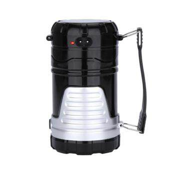 Harga Solar Power Camping Lantern Outdoor Lamp Rechargeable Night Flashlights Torch Hiking Lights Black