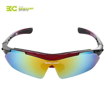 Harga MiniCar Basecamp Professional Outdoor Cycling Glasses Sunglasses Goggles Red(Color:Red)