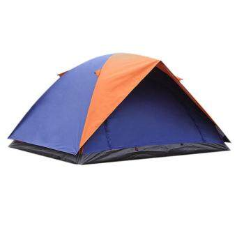 Harga 2-Person Waterproof Camping Tent Double Layer Family Hiking Pinic