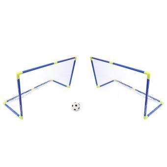Harga Anjanle Kids Portable Double Football Goal Net Set Sport Toy