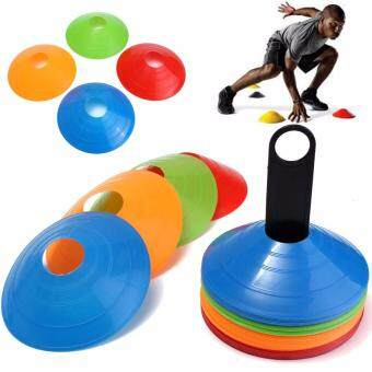 Harga Charles Bentley 50 Multi Coloured Space Disc Training Markers Cones With Stand